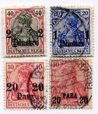 Briefmarken aus der deutschen Post in Türkei