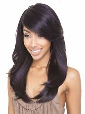 Isis Brown Sugar Human Hair Blend FULL  Wig - BS110 COL: PURPLE BLACK