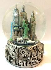 Silver New York City Snow Globe 3.5 Inch (65mm) Skylines & Statue liberty Wg122