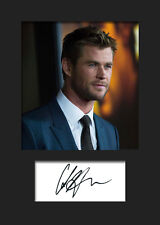 CHRIS HEMSWORTH #1 A5 Signed Mounted Photo Print - FREE DELIVERY