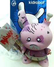 """DUNNY 3"""" 2011 SERIES HUCK GEE AP ZOMBIE EUROPE PURPLE EXCLUSIVE SIGNED KIDROBOT"""