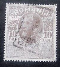 Romania-1917-Revenue-10 Bani Fiscal issue-Used