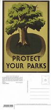 PROTECT YOUR PARKS UNITED STATES UNUSED ADVERTISING COLOUR POSTCARD