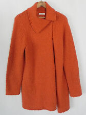 Laura Ashley Sweater Long Cardigan/Coat Orange  Acrylic/Wool  Asymetrical Size L
