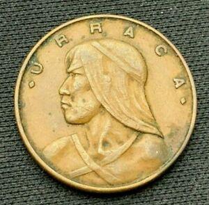 Panama 1961   Un Centesimo Coin XF+   Bronze    #K695