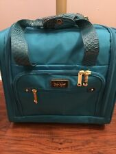 Nicole Miller Tuquiose Green/Blue Computer Roller Bag