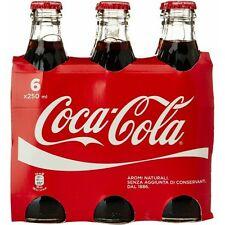 6X 250 ml Coca Cola Bottiglie in Vetro bottle the coca cola company Atlanta 1886