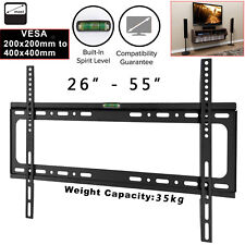 Slim TV WALL BRACKET MOUNT 26 40 42 46 50 52 55 inch Plasma LED LCD VESA UKSTOCK