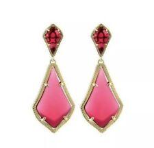 Kendra Scott Alexa Statement Drop Earrings, Berry Glass NWT $70.00