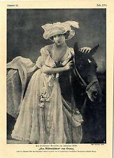 """Das """"Milchmädchen"""" von Geuze von Frl.Geuze dargestellt c.1907"""