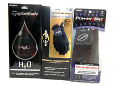 New Taylormade H20 Powerbilt Ray Cook 3- Pair Stormy Weather Golf Gloves RH/LH