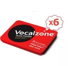 6 x vocalzone S - 24 pastilles pour la Gorge - Aide à garder TRANSPARENT voix