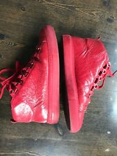 Balenciaga Arena High Top Turnschuhe Sneakers Leder Gr. 40 / 41  Rot