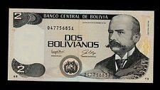 BOLIVIA  2  BOLIVIANOS ( 1987 )  A  PICK #  202a  UNC.