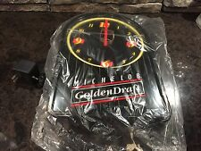 Michelob Golden Draft Beer 1992 Neon Back Bar Clock New Mint in Box