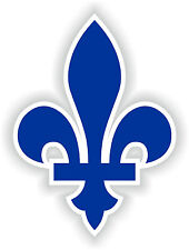 Quebec Fleur de Lys Canada Sticker Logo for Helmet Hard Hat Locker Bumper Book