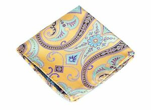 Lord R Colton Masterworks Pocket Square - Upsala Canary Silk - $75 Retail New