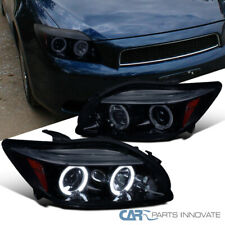 New!! Glossy Black 05-10 Scion tC Smoke LED Dual Halo Projector Headlights Lamps