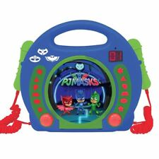 OFFICIAL PJ MASKS CD PLAYER WITH MICROPHONES MUSIC CHILDRENS LEXIBOOK