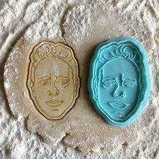 Depeche Mode cookie cutter. Martin Gore face cookie stamp. Gore portrait cookies