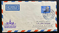 1934 Germany Graf LZ 127 Zeppelin Flight Airmail Cover To Buenos Aires Argentina