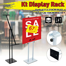 AU Sign Poster Display Floor Stand Menu Pedestal KT Board Holder Adjustable Rack