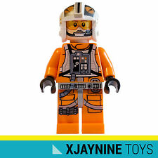 Genuine LEGO STAR CLONE WARS Rebel X-Wing Pilot Theron Nett Minifig NEW