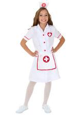 Girls Medical Nurse Doctor Hospital Uniform Halloween Fancy Dress Costume