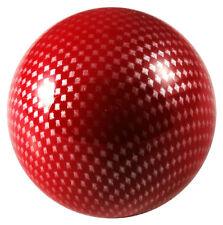 Carbon Fiber Arcade Stick Ball Top Sanwa Semitsu Mad Catz Hori Joystick - Red