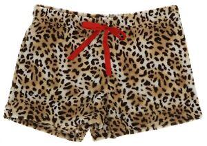 Fuzzy Pajama Shorts Animal Print Emme Jordan Junior Sleepwear Loungewear