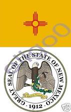 NEW MEXICO State Flag +SEAL 2 bumper sticker decals USA