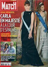 PARIS MATCH N° 3128--CARLA EN MAJESTE A LA COUR D'ESPAGNE/PATRICK SEBASTIEN