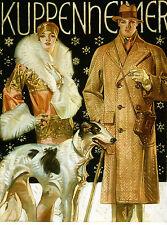"1920's J.C. Leyendecker, Kuppenheimer, antique Fashion, Dog, 20""x14"" Art Print"