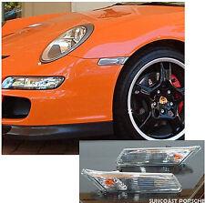 Porsche Carrera Clear Side Marker Lights  997 911 GT2 GT3 Turbo GTS Speedster