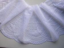 Spitze weiß elastisch 0,5Meter 18,5cm Breit elegante Borte tolle angebot selten