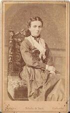 Schulze & Suck CDV photo Feine Dame - Carlsruhe Karlsruhe 1870er