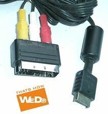 Official Sony Playstation 2 AV TV Cable Lead with SCART block PS2