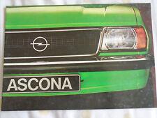 Opel Ascona range brochure c1973 Italian text