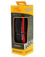 Continental Ultra Sport 2 Road Bike Tire, Red/Black, 700x25, Folding