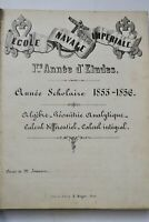 Ecole navale impériale 1re année d'étude 1855-1856