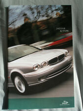 Jaguar X Type range brochure 2001 small format