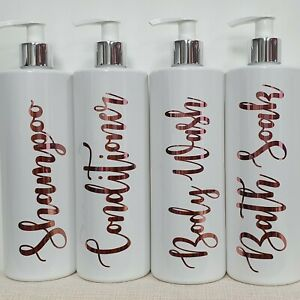 Mrs Hinch Inspired White Personalised Pump Bottle Bathroom Lotion shampoo