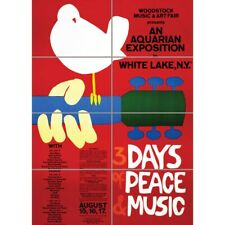 Music Festival Concert Woodstock Peace Dove Love Legend Wall Art Poster 33X47""