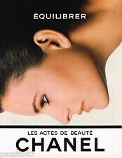 PUBLICITE ADVERTISING 055  1984  CHANEL  cosmétiques LES ACTES DE BEAUTE