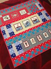 Cushi cots boys handmade quilted keepsake/cot/ blanket/ nursery/ topper pirates