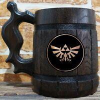 Zelda Wingcrest Beer Mug, Zelda Beer Stein, Gamer Gift, Custom Gift for Him