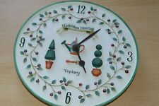 ATTRACTIVE RESIN BATTERY WALL CLOCK- GARDEN TOPIARY DESIGN