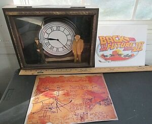 BACK TO THE FUTURE  real CLOCK 1 OF A KIND FANTASTIC AND MAP doc brown