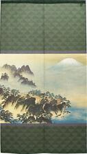 Noren Japanese Hanging Door Curtain Tapestry Hourai Moutain 2 Green Taikan Japan