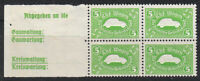Stamp Germany Revenue Block WWII 3 Reich VW War Era KDF Volkswagen Inscript MNH